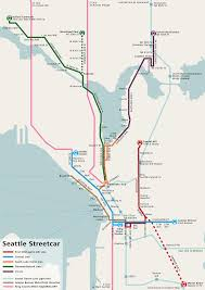 Seattle Rail Map by File Seattle Streetcar Network Map Connections Png Wikimedia Commons