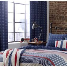 Navy Tab Top Curtains Catherine Lansfield And Stripes Navy Tab Top Curtains 66 X
