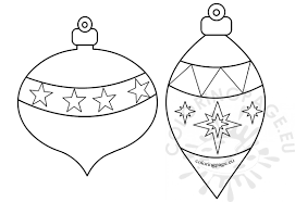 printable ornaments to color coloring page