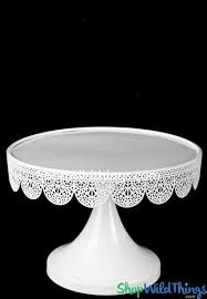 metal cake stand white eyelet dessert treat stand shopwildthings
