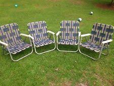 Vintage Lawn Chairs Aluminum Aluminum Lawn Chairs With Webbing Latest Vtg Matching Pair