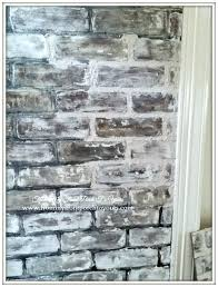 Home Depot Interior Wall Panels Diy Faux Brick Wall Panels Using Chalk Paint For An Older Look Via
