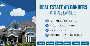 real estate html ad banners by exe design codecanyon