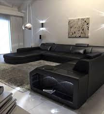 modern u shaped sofa dallas xxl with lights