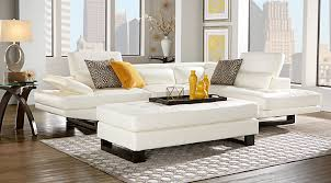 Living Room Leather Furniture Living Room - White leather sofa design ideas