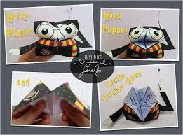 harry potter hand puppet cootie catcher worksheet josis art and