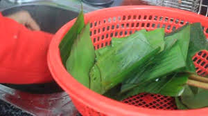people make round sticky rice cake vietnam stock video footage