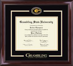 Diploma In Interior Design by Grambling State University Spirit Medallion Diploma Frame In