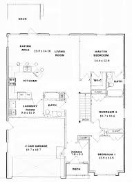 1 Storey Floor Plan by 1 Story Open One Story Floor Plans Crtable