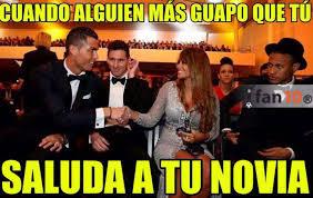 Memes De Messi - los memes del saludo entre cristiano y la esposa de messi en la