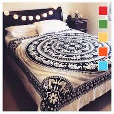 colorful hippie mandala boho elephant tapestry bedspread wall