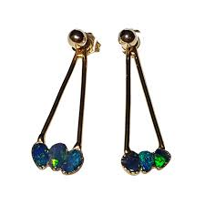 turquoise opal earrings australian opal direct miner direct prices new opal jewellery