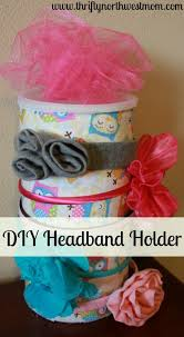 how to make a headband holder diy headband holder using oatmeal container thrifty nw