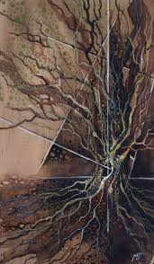 watercolor tree painting abstraction nature illustration