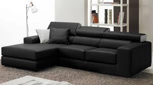 canape d angle en cuir convertible canape noir pas cher maison design wiblia com