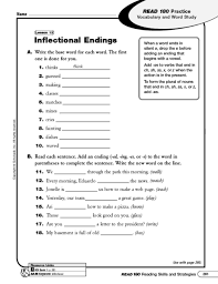 inflected endings worksheet free worksheets library download and