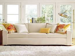 sofa amazing pottery barn living room ideas with nice white sofa