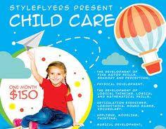 babysitting free flyer template http freepsdflyer com
