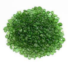 jade green eco glass beads