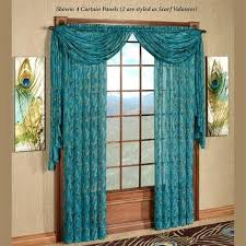 Sheer Teal Curtains King Peacock Sheer Curtain Panel Sapphire 59 X 84 Sheer Teal Blue