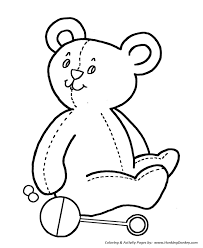 simple shapes coloring pages free printable simple shapes teddy