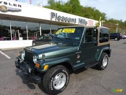 jeep dark green 2002 jeep wrangler sahara 4x4 in shale green metallic 757401