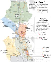 Seattle Districts Map by Shots Fired U0027 Calls On Rise Seattle Police Link Some To Single Gun