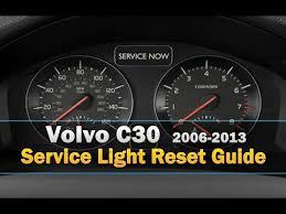 service light on car volvo c30 service light reset youtube
