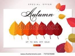 autumn sale background template poster card stock vector 737565004