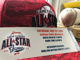 venturing out 2017 cape league all star game u2013 big three sports