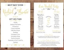 sided wedding programs wedding program deposit printable diy wedding
