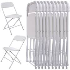 party chairs 10pcs commercial white plastic folding chairs stackable wedding