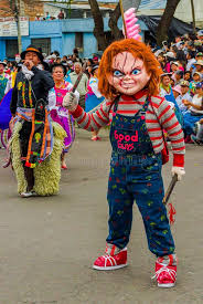 chucky costume quito ecuador january 31 2018 unidentified wearing a chucky