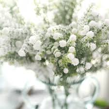 baby s breath flowers 10pcs frosted bush artificial baby s breath silk flower home