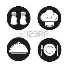 couvert de cuisine quipement de cuisine icônes noires définies sel et poivre shakers