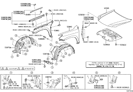 lexus lx 570 jp hood u0026 front fender lexus part list jp carparts com