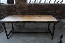 bureau design industriel table ou bureau metal industriel des annees 50 militaire plateau chene