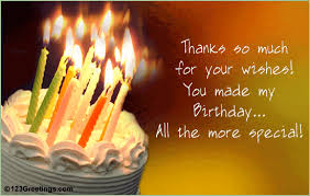 thanks for your birthday wishes free birthday ecards greeting