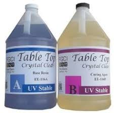 pro marine supplies table top epoxy epoxy table top resin 1 1 1 gallon kit crystal clear parts a b