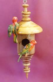 ornamental birdhouses with australian birds by bob collins