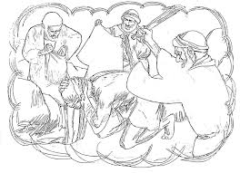jesus the good shepherd coloring pages a man traveling to jericho was attacked and beaten by robbers