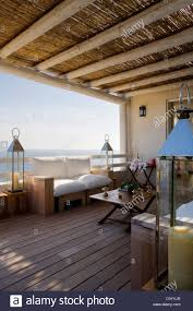 Floored by Wooden Floored Terrace With Bamboo Awning And Mediterranean Views