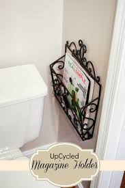 Small Powder Bathroom Ideas by Mail Carrier Turned Magazine Holder Perfect For Small Powder