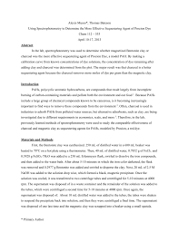 chem 112 research project report