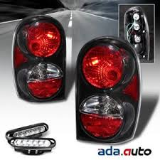 2002 jeep liberty fog lights 2002 2007 jeep liberty altezza style black tail lights led fog