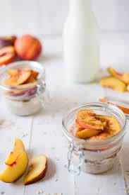 fresh peach cobbler overnight oats u2022 a sweet pea chef
