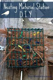 nesting material station for wild birds birds nesting