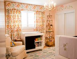 Baby Curtains For Nursery by Baby Nursery Themes For A Girl With Beautil Floral Curtain And