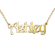 Name Chain Thickness 14k Gold Name Chain Necklace