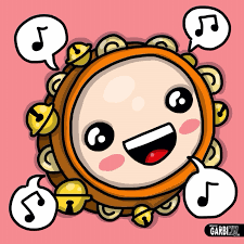how to draw a tambourine kawaii style christmas drawings by